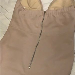 Fashion Nova Dresses - Nude. High neck mini dress